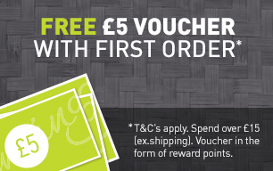 Free £5 voucher with first order