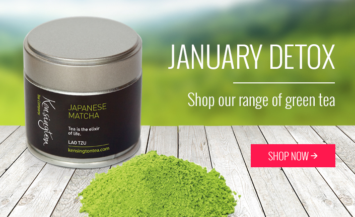 January Detox. Shop our range of green tea